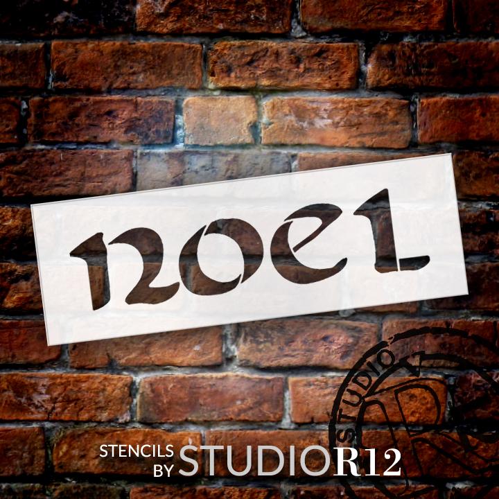 "Noel - Celtic Style - Word Stencil - 6"" x 2"" - STCL1385_1 by StudioR12"