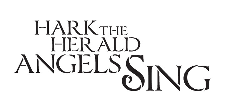 """Hark the Herald Angels Sing - Word Stencil - 12"""" x 6"""" - STCL1386_2 by StudioR12"""