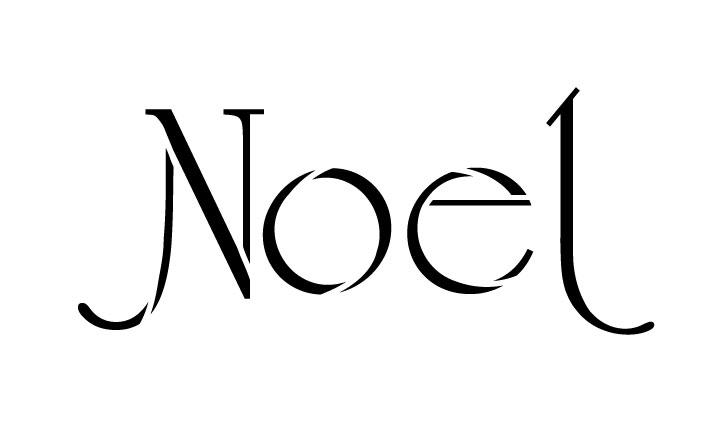 "Noel - Elegant Deco - Word Stencil - 10"" x 6"" - STCL1390_2 by StudioR12"