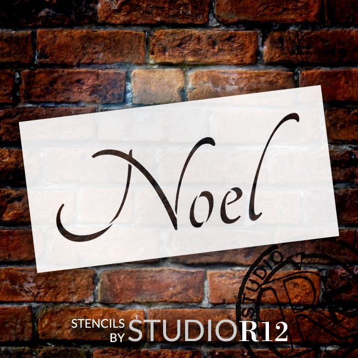 "Noel - Graceful - Word Stencil - 6"" x 3"" - STCL1391_1 by StudioR12"