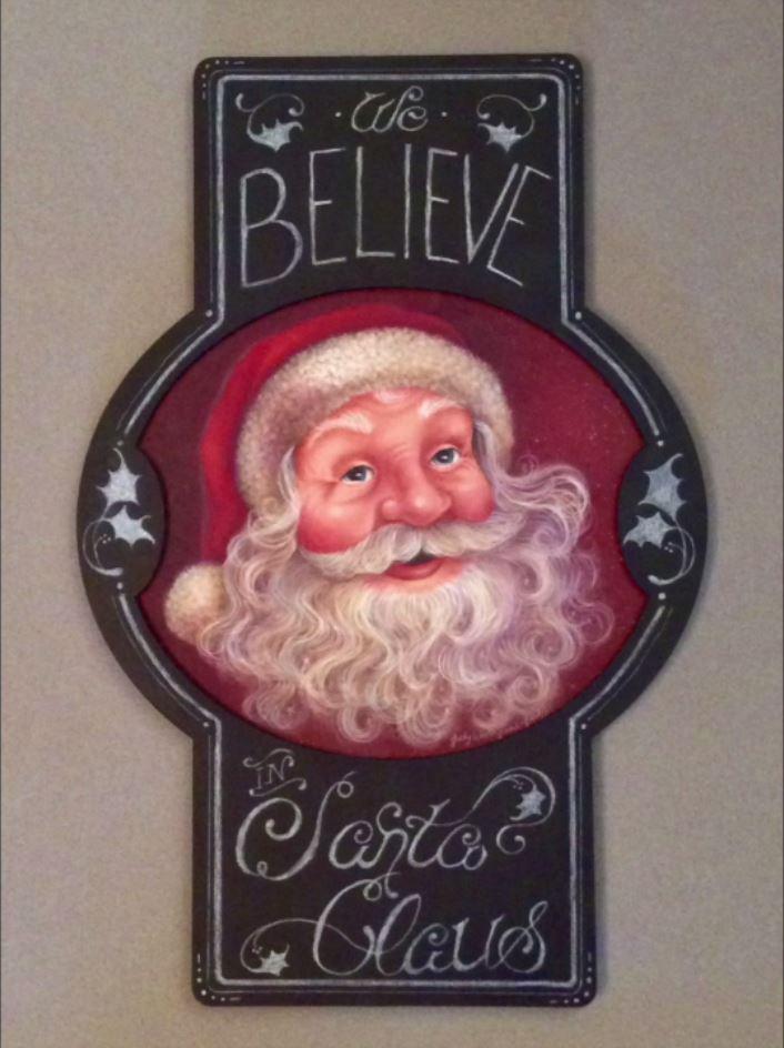 Chalk Typography Santa - E- Packet - Judith Westegaard