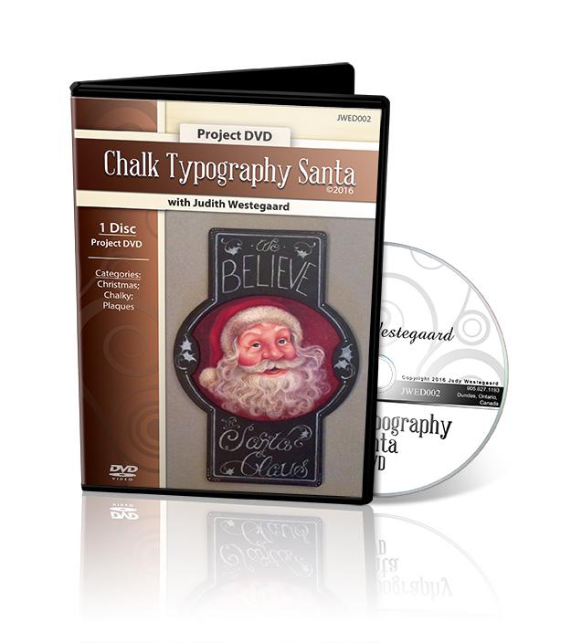 Chalk Typography Santa - Judith Westegaard