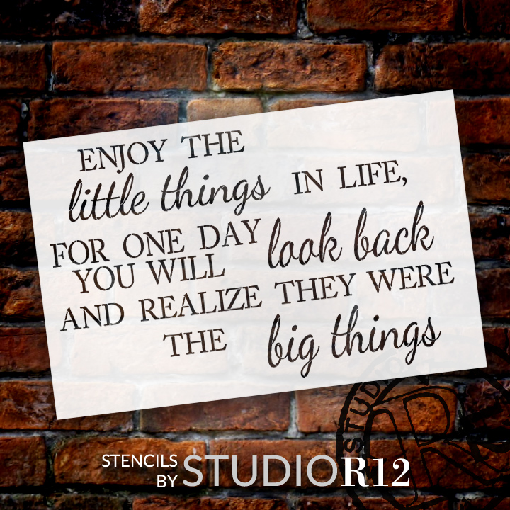 """The Little Things - Jumbo Word Stencil - 30"""" x 20"""" - STCL1435_3 - by StudioR12"""