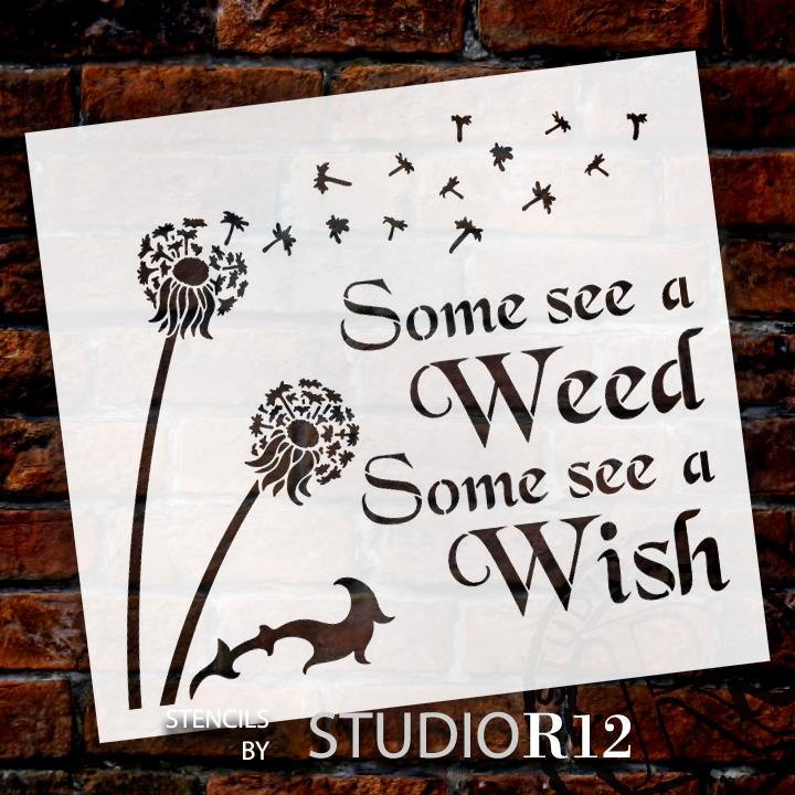 "Some See A Wish - Art Stencil - 16"" x 15"" - STCL1442_2"