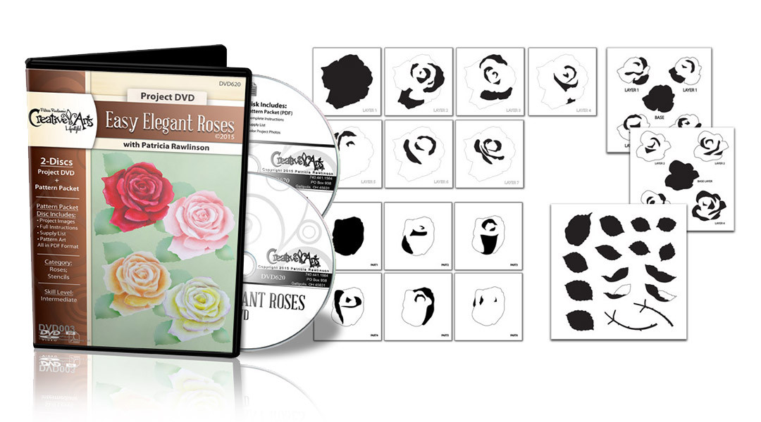 Elegant Rose DVD + Deluxe Stencil Set