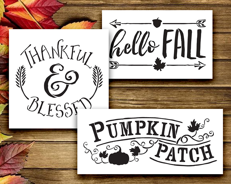 Falling For Fall - 3 Stencil Set - CMBN348