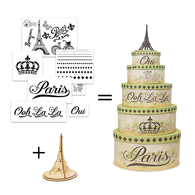 French Chic Stencils + Embellishments Project Set