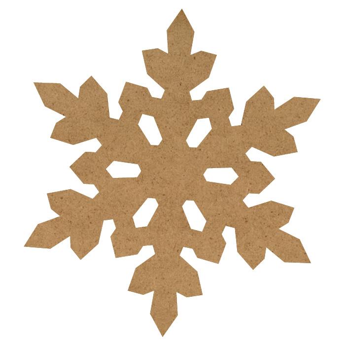 "Chilly Snowflake Wood Embellishment Mini - 1 7/10"" x 1 9/10"""