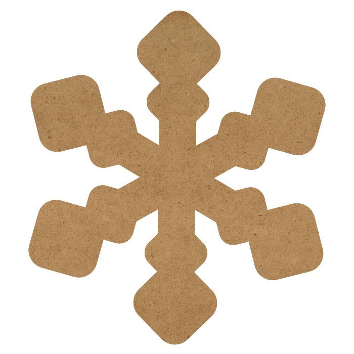 "Simple Snowflake Wood Embellishment Mini - 13/16"" x 7/8"""