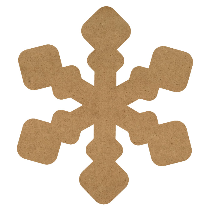 "Simple Snowflake Wood Embellishment Mini - 1 1/2"" x 1 3/4"""