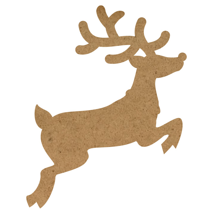 "Rudolph Wood Embellishment Mini - 1"" x 1 1/3"""