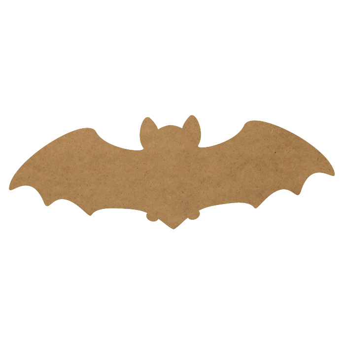 "Bat Wood Embellishment Mini - 2 1/2"" x 7/8"""