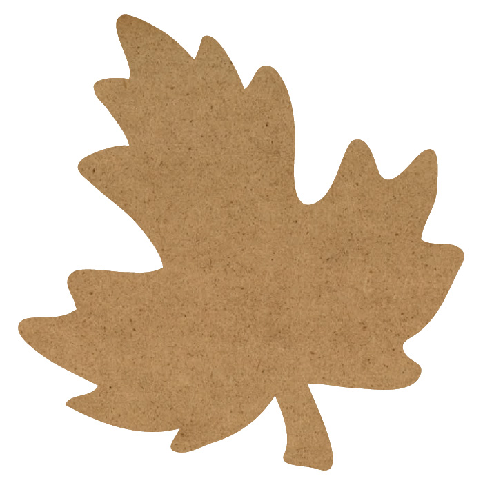 "Maple Leaf Wood Embellishment Mini - 1"" x 1"""