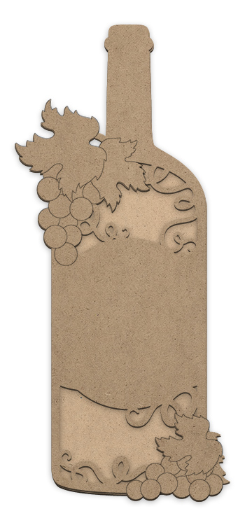 Wine And Grapes Plaque with Overlay - 22 in