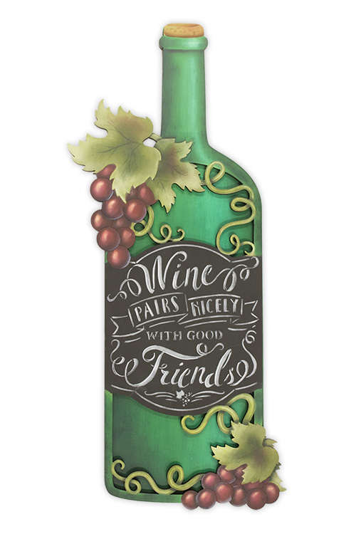 Wine & Friends Pattern Packet - Patricia Rawlinson