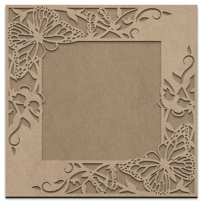 Butterfly Garden Frame Overlay Set - Square Opposing Corner - Large - 15in