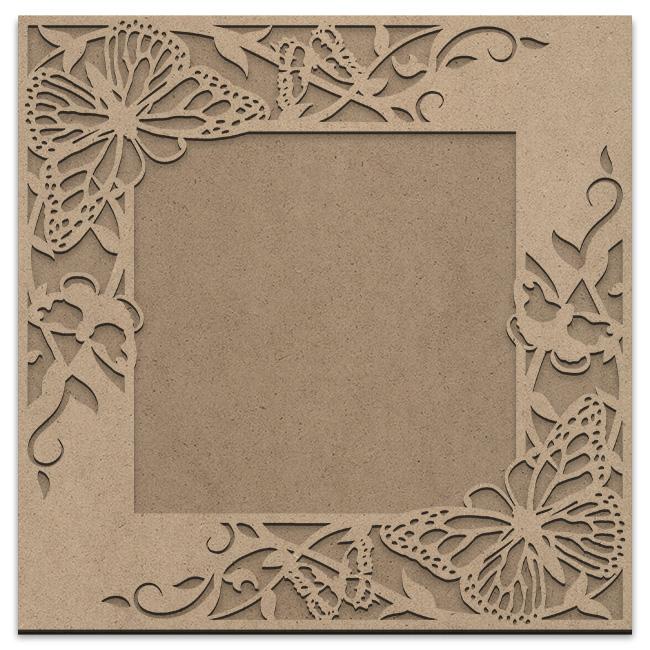 Butterfly Garden Frame Overlay Set - Square Opposing Corner - Jumbo - 18in