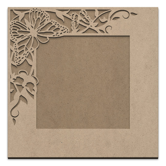 Butterfly Garden Frame Overlay Set - Square Single Corner - Jumbo - 18in