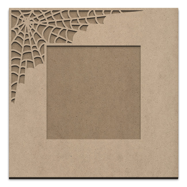 Spiderweb Frame Overlay Set - Square Single Corner - Small - 9in