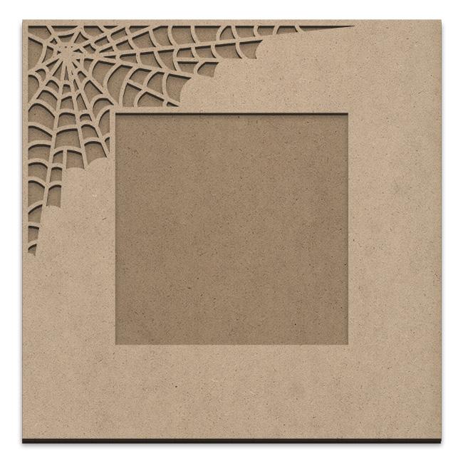 Spiderweb Frame Overlay Set - Square Single Corner - Medium - 12in