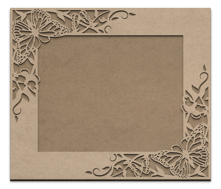 "Butterfly Garden Frame Overlay Set - Rectangle Opposing Corner - For 8"" x 10"""