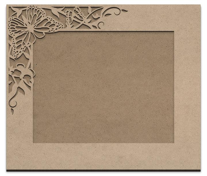"""Butterfly Garden Frame Overlay Set - Rectangle Single Corner - For 11"""" x 14"""""""