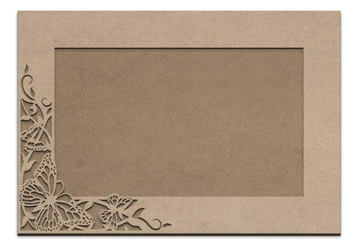 """Butterfly Garden Frame Overlay Set - Rectangle Single Corner - 12"""" x 18"""""""