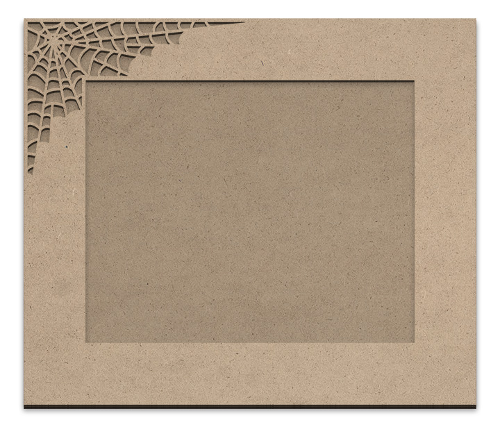 "Spiderweb Frame Overlay Set - Rectangle Single Corner - For 11"" x 14"""
