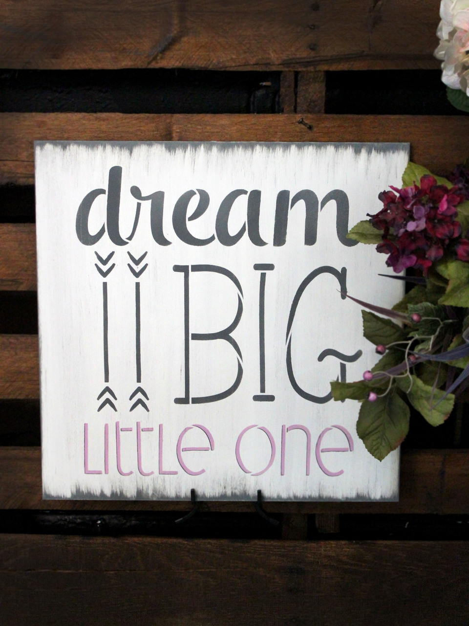 """Dream Big Little One Art and Word Stencil - 7"""" x 8"""" - STCL1464_1 - by StudioR12"""