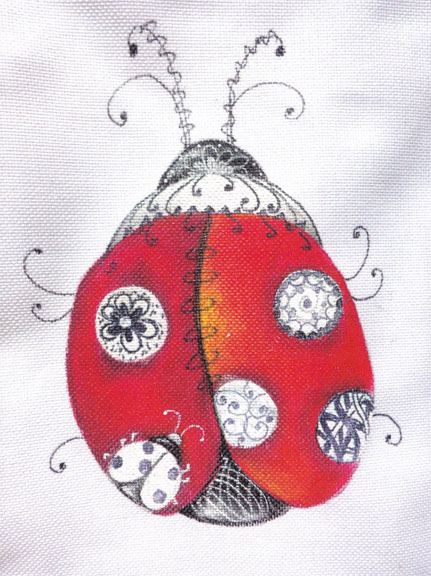"""Jan"" Entangled Ladybug - E-Packet - Janice Miller"