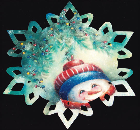 Snowman Snowflake Plate - E-Packet - Janice Miller
