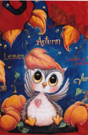 Autumn Owl Pumpkin-  E-Packet - Holly Hanley