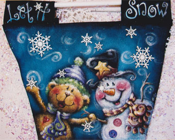 Let It Snow Canvas Bag - E-Packet - Holly Hanley