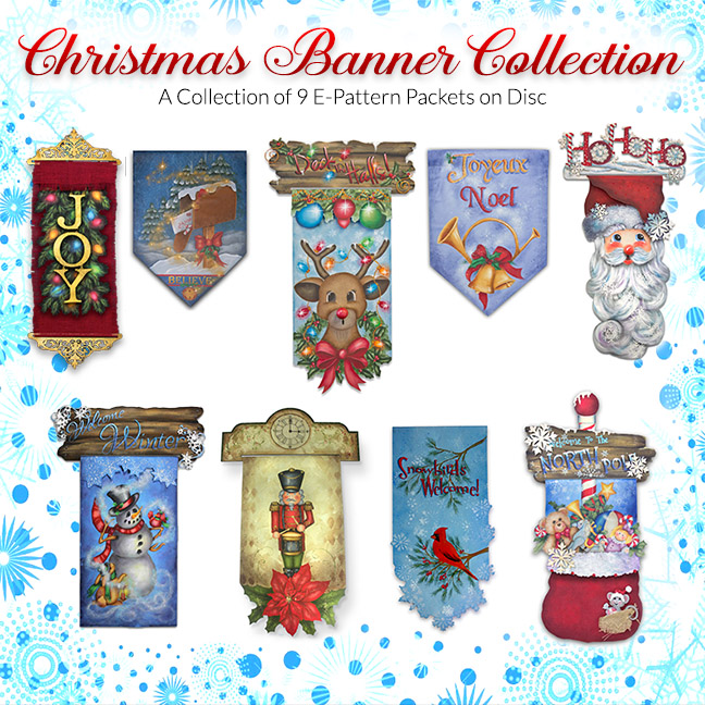 Christmas Banners Digital Packet Collection on Disc