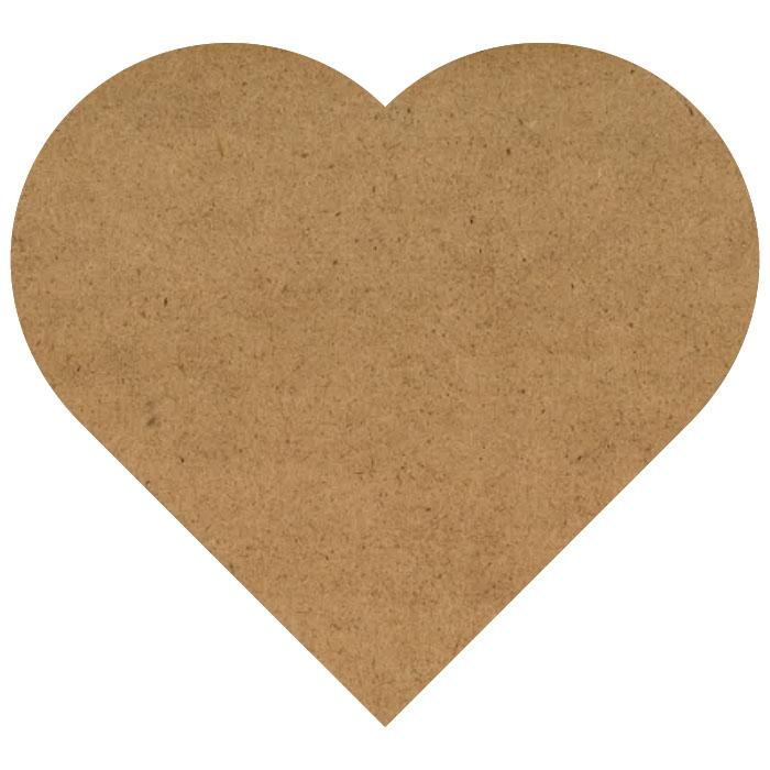 "Simple Heart Wood Embellishment Mini - 1 1/10"" x 1"""