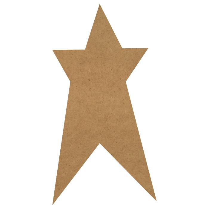 """Folk Art Star Wood Embellishment Mini - 3/5"""" x 1 1/8"""""""