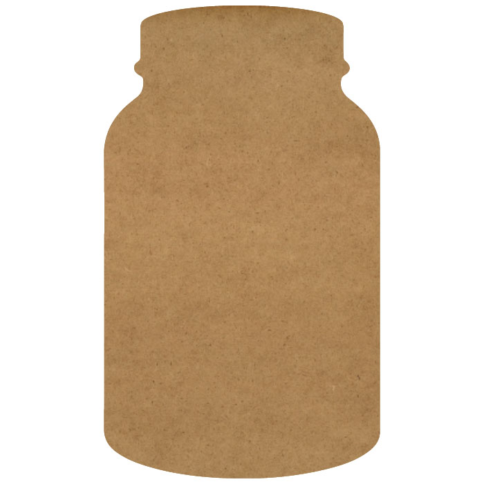 "Canning Jar Wood Embellishment Mini - 3/5"" x 1"""