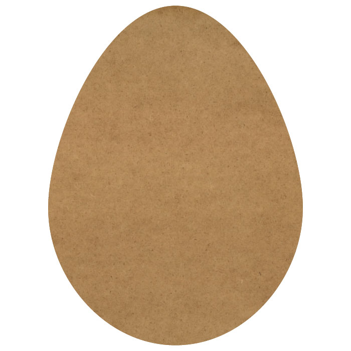 "Chicken Egg Wood Embellishment Mini - 3/4"" x 1"""