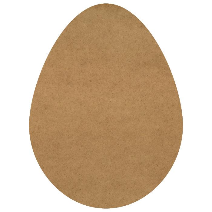 "Chicken Egg Wood Embellishment Mini - 1 1/2"" x 2"""