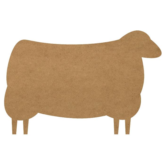 "Folk Art Sheep Wood Embellishment Mini -1"" x 2/3"""