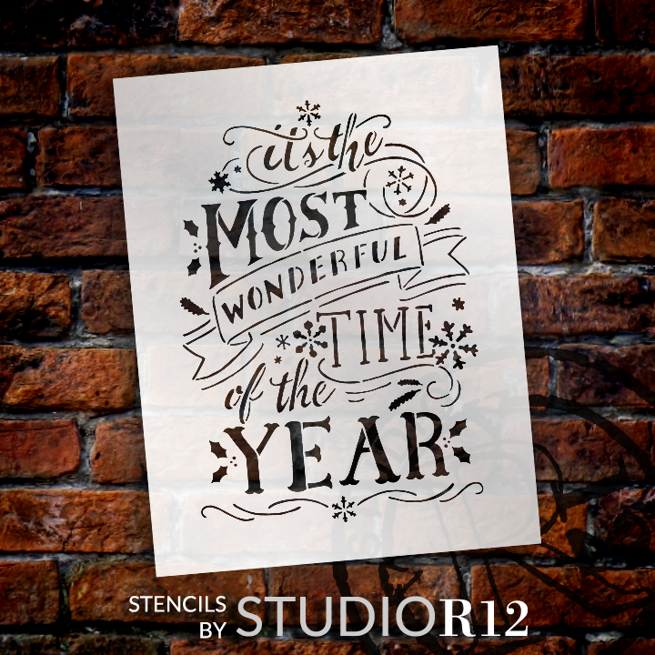 """Most Wonderful Time Of The Year - 8.5"""" x 11"""" - STCL1365_1 - by StudioR12"""