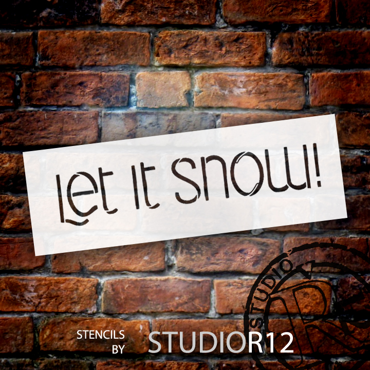 "Let It Snow - Word Stencil - 6"" x 2"" - STCL1469_1 by StudioR12"