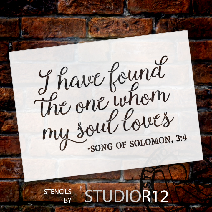 """I Have Found the One - Word Stencil - 14"""" x 10"""" - STCL1582_2 by StudioR12"""