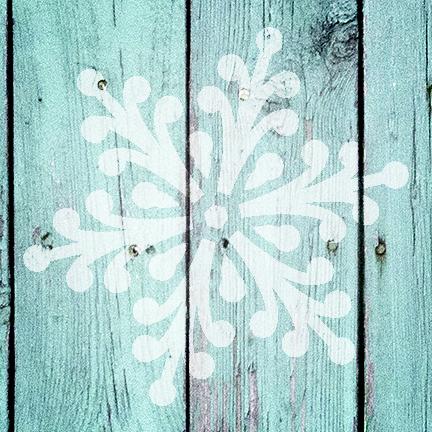 """Jeweled Snowflake - Art Stencil - 12"""" x 12"""" - STCL951_3 - by StudioR12"""
