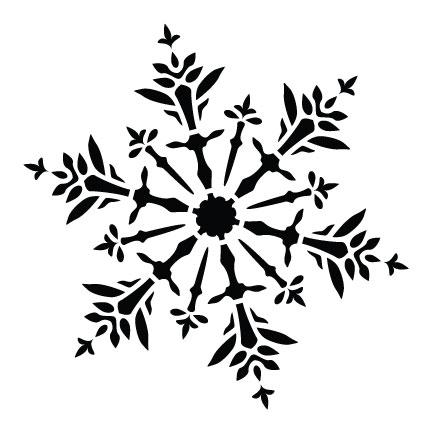"Delicate Snowflake - Art Stencil - 4"" x 4"" - STCL952_1 - by StudioR12"