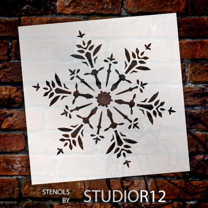 "Delicate Snowflake - Art Stencil - 12"" x 12"" - STCL952_4 - by StudioR12"