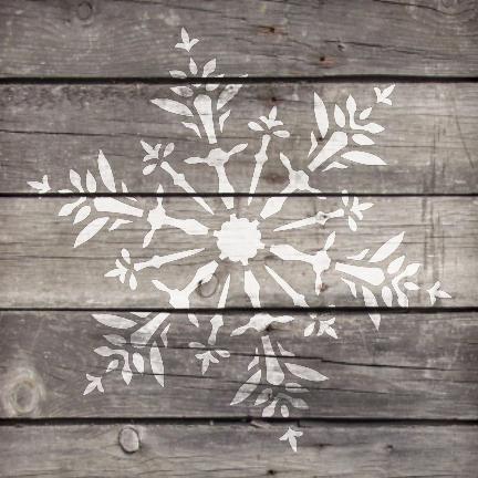 "Delicate Snowflake - Art Stencil - 15"" x 15"" - STCL952_5 - by StudioR12"