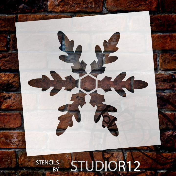 "Classic Snowflake - Art Stencil - 15"" x 15"" - STCL953_4 by StudioR12"