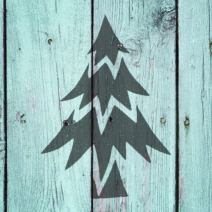 "Oh Christmas Tree - Art Stencil - 9"" x 9"" - STCL958_2 by StudioR12"
