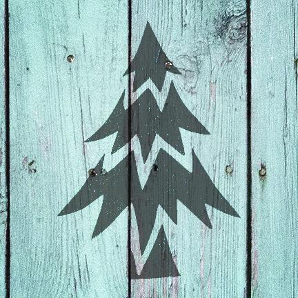 "Oh Christmas Tree - Art Stencil - 12"" x 12"" - STCL958_3 by StudioR12"